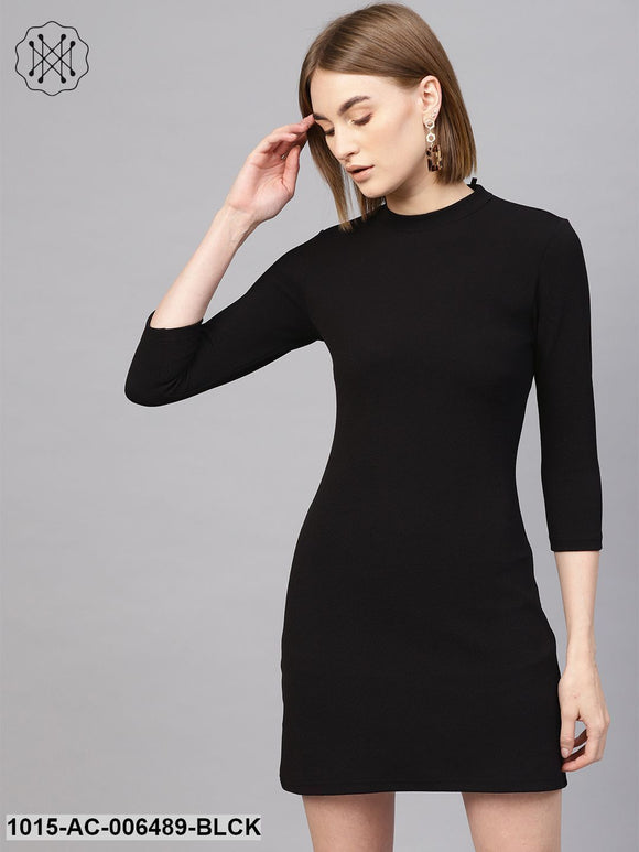 Black Short A-Line Dress