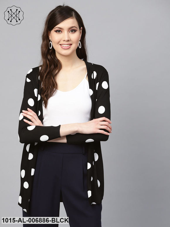 Black & White Polka Shrug