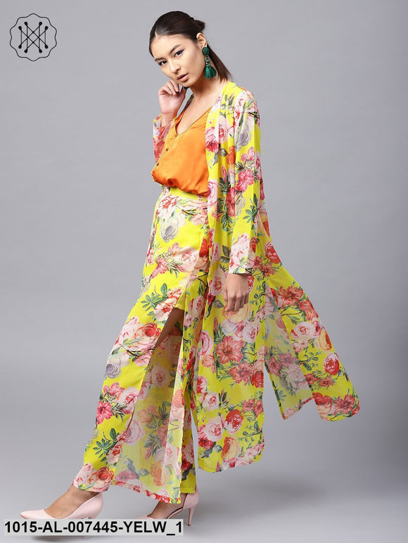 Yellow Tropical Longline Shrug