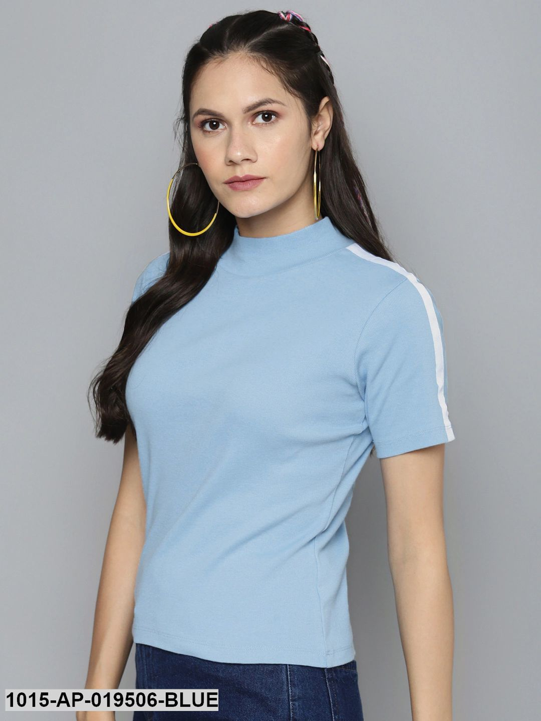 Blue Tape Detail At Sleeve Top