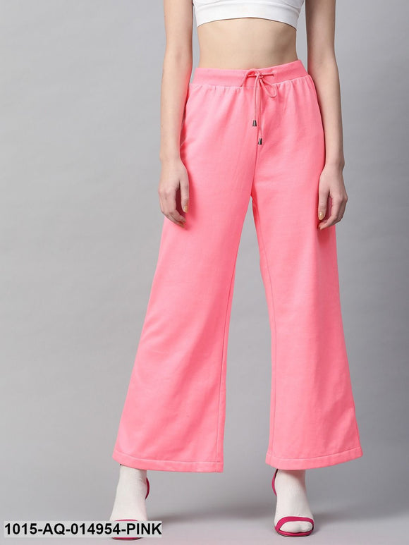 Pink Flared Sweat Pants