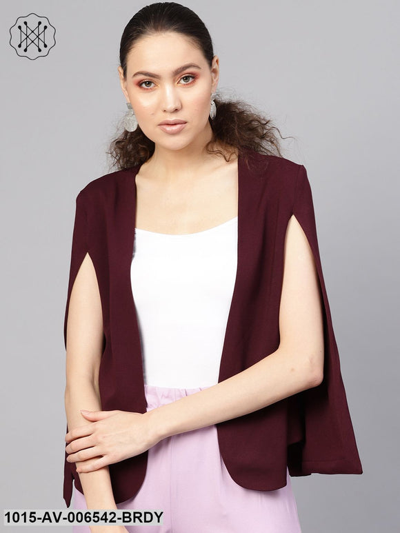 Burgundy Cape Jacket