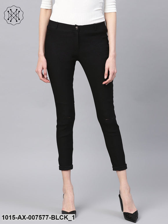 Black Ripped Jegging
