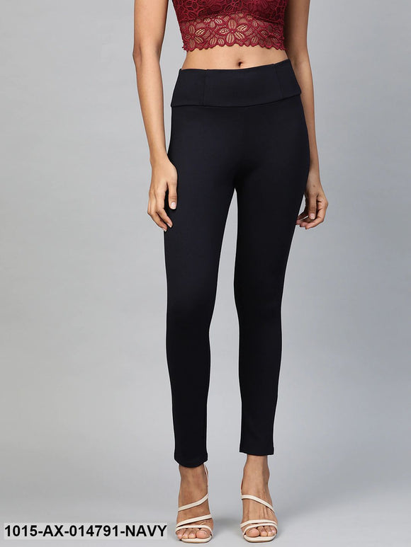 Navy High Waist Basic Jegging