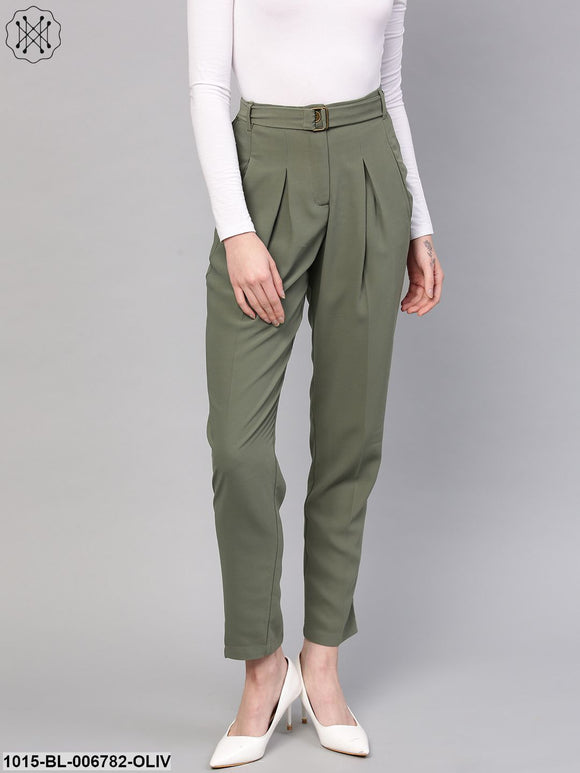 Olive Tapered Pants