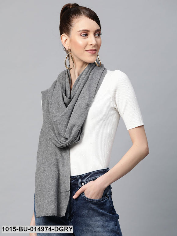 Dark Grey Recycled Poly Cotton Brushed Stole