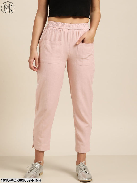 Baked Pink Patch Pocket Pants