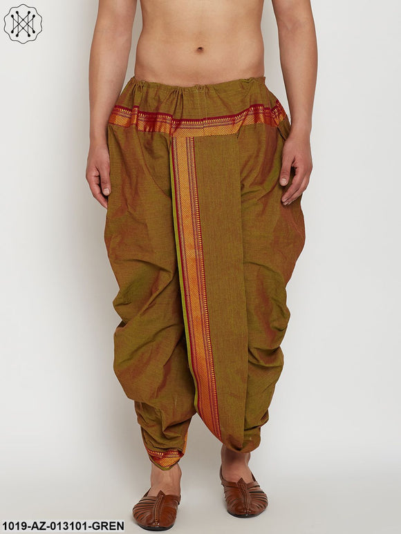Stitched Juniper Green Mens Dhoti