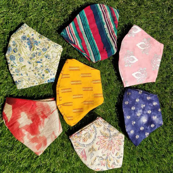 Printed Cotton Face Masks (set of 7)