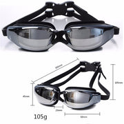 -1.5~-8.0 Myopia Swimming Goggles Waterproof Goggle HD Anti Fog UV Protection Optical Prescription Glasses For Men Women Adult