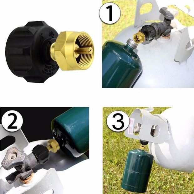 1 LB Gas Propane QCC1 Regulator Valve Propane Refill Adapter Outdoor BBQ New