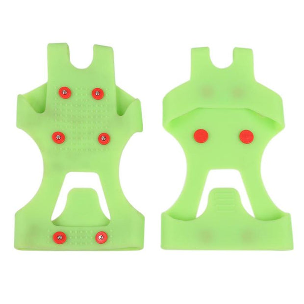 1 Pair 6 Studs Anti-Skid Snow Ice Climbing Shoe Crampons Cleats Overshoes