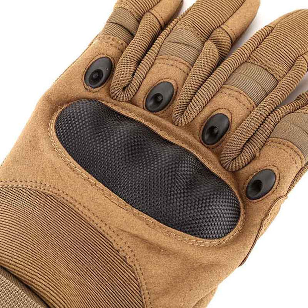 1 Pair Anti-Skid Rubber Hard Knuckle Full Hiking Climbing Gloves Tactical Military Army Paintball Shooting Combat Gloves
