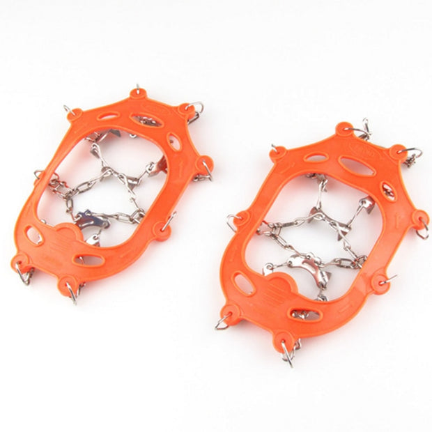 1 Pair Anti Slip 8 Teeth Ice Snow Winter Ski Crampons Climbing Mountaineering Shoes Grippers Claws Chains