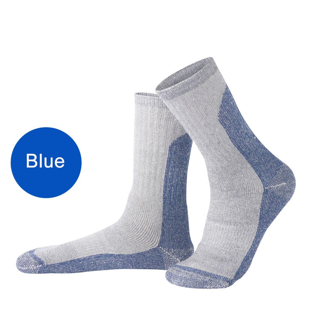 1 Pair Compression Socks Merino Wool Cushioned Crew Socks Unisex Breathable Warm Socks For Hiking Backpacking Trekking Climbing