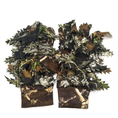 1 Pair Fishing Hunting 3D Leaf Gloves Keep Warm Hunting Camping Cycling Camouflage Outdoor Sport Fishing Equipment