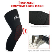 1 Pair Football Kneepads Basketball Long Leg Sleeves Breathable Anti-slip Knee Support Protection Sports Compression Knee Pads