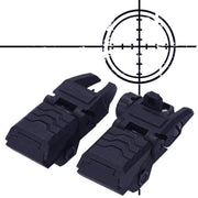 1 Pair Hunting Accessories Rail Scope Mount Rifle Airsoft Folding Adapter Flashlight Rail Looking Up Folding Design H5