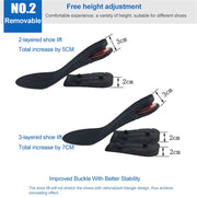 1 Pair Increased Sport Insoles Orthotic Arch Support Anti-Slip Gel Soft Adjustable Stealth Height Shoes Insoles Pad 1-3 Layers