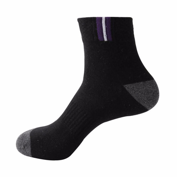 1 Pair New Men's Cotton Sports Anti-Sweat Deodorant High Quality Durable Anti-Sweat Running Riding Socks Rn