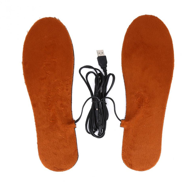 1 Pair Outdoor USB Electric Powered Heating Shoes Insoles Wool Felt Warmth-Keeping Pads Men Women Heated Insoles 2 Types Options