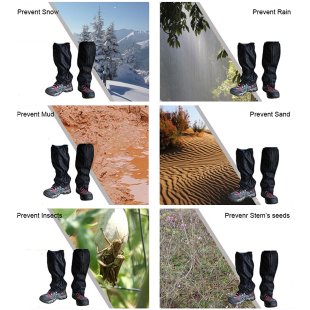 1 Pair Outdoor Waterproof Snow Legging Gaiters For Hiking Walking Climbing Hunting Leg Rain Cover Ski Gaiters