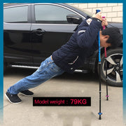 1 Pair Telescopic Hiking Carbon Fiber Climbing Cane Pioneer Ultra-light Trekking Ski Pole Outdoor Walking Sticks J2