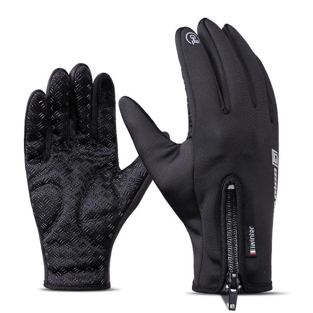 1 Pair Of Outdoor Gloves Touch Screen Waterproof Windproof For Riding Sports Fleece Mountaineering Skiing Gloves For Unisex