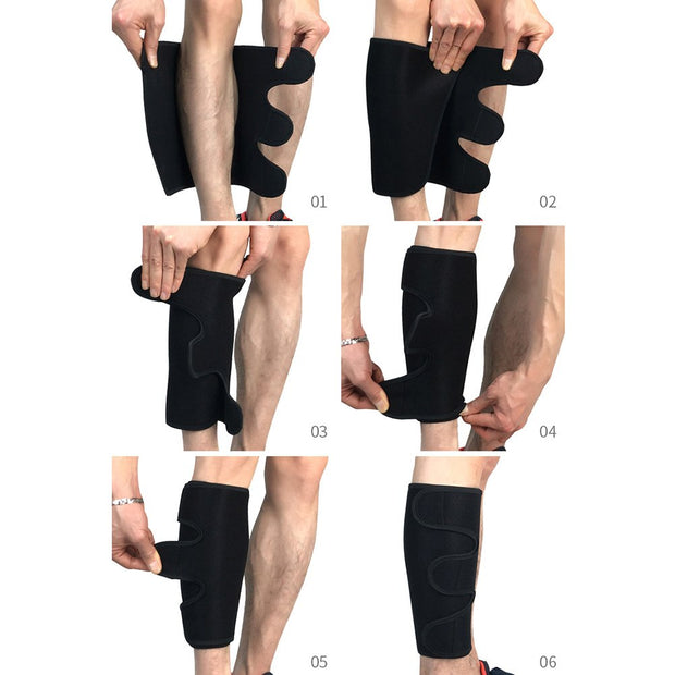 1 Pc Calf Brace Support Compression Fitness Running Cycling Sports Leg Sleeve Football Soccer Anti-crash Leg Protector