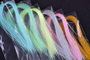 10 Pcs/Lot Color Mix Fly Fishing Tying Crystal Flash String Jig Hook Flashing Line Snapper Rig Shinning Line Lure