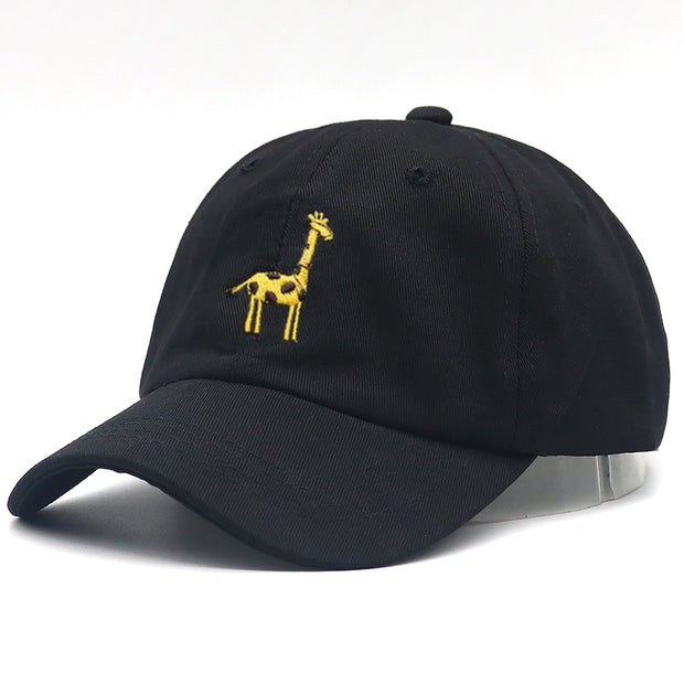 100% Cotton Giraffe Hip Hop Dad Hat Adjustable Embroidery Baseball Cap For Women Men Sports Snapback Hats All Matched