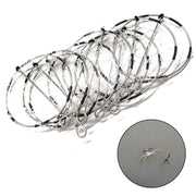 10pcs 6-Ring Portable Fishing Shrimp Crab Cast Trap Catch Crabs Tool Set Fishing Tackle