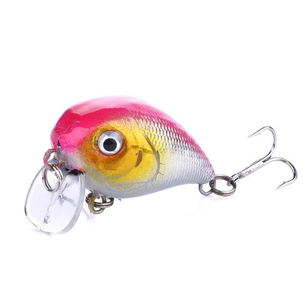10pcs Fishing Lure 3D Eyes Artificial Swim Bait Wobblers Crankbaits Tackle Set Outdoor Fishing Tackle Tools