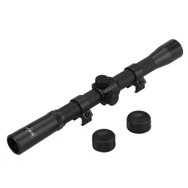 11mm 4x 20 Optics Air Rifle Scope Sniper Hunting Scope Telescopic Sight Tactical Riflescope Sniper Scope Airsoft+Hunting Mount