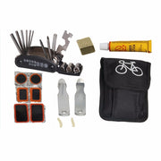 16 In 1 Bike Hand Multifunction Bicycle Repair Tools Kit Set Bag Multitool Cycling Service Folding Tool Portable