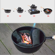16cm Charcoal Firewood Burner Stove BBQ Brazier Camping Picnic Travel Backyard