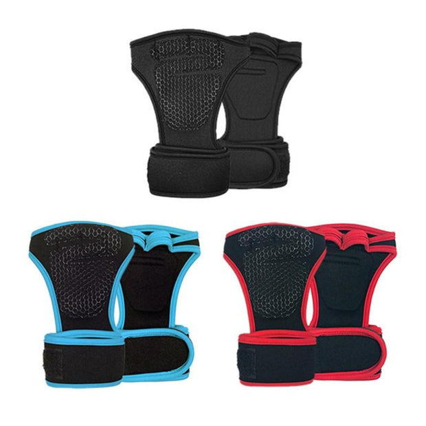 1Pair Dumbbell Training Hand Grips Gymnastics Gloves Grips Anti-Skid Gym Fitness Gloves Weight Lifting Grip