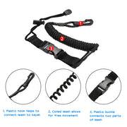 1pc New Elastic Rowing Boat Kayak Paddle Leash Safety Rod Leash Fishing Rod Lanyard Paddle Leash Stretches To 150cm