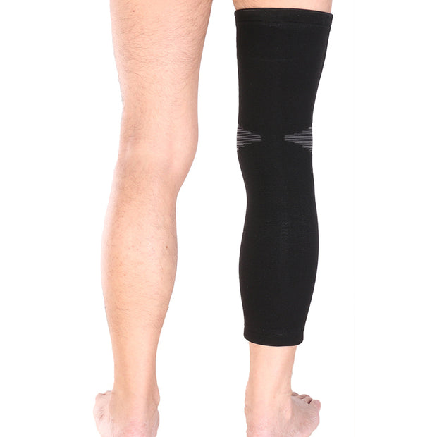 1pcs New Mumian Elastic Sports Long Leg Knee Support Brace Wrap Protector Pads Sleeve Cap Patella Guard Volleyball Equipment