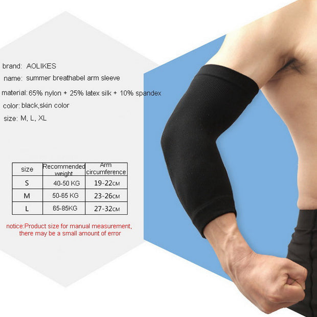 2 Pcs/Pair Breathable Sport Arm Sleeves Men Women Basketball Tennis Volleyball Running Elbow Compression Protector