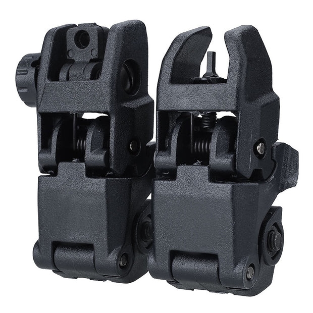 2 Pcs/lot 20MM Rail Gen1 Tactical Folding Front Rear Flip Up Backup Sights BUIS Set Scope Mounts Accessories Hunting Accessories
