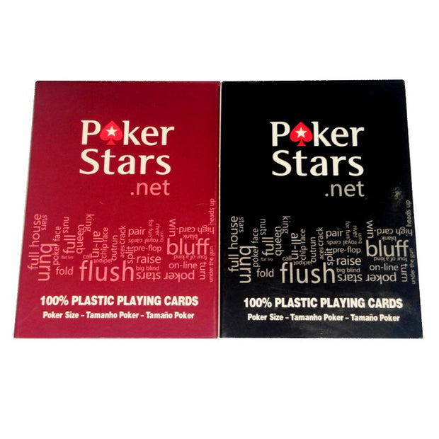 2 Sets/Lot Texas Hold'em Plastic Playing Card Game Poker Cards Waterproof And Dull Polish Poker Star Board Games