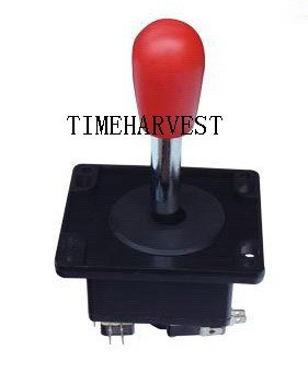 2 Pcs Red Spain Joystick With Microswitches For Coin Operator Cabinet Arcade Game Machine / Arcade Accessories / Game Parts
