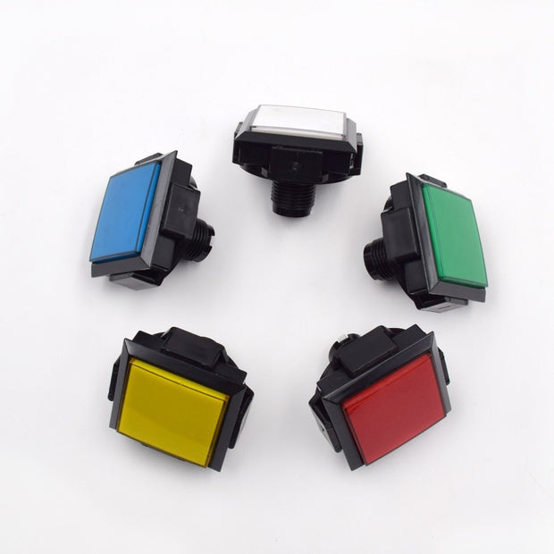 2 Pieces Square 60*60mm Lighted Buttons Illuminated Push Button With Micro Switch For Arcade Music Game Machine