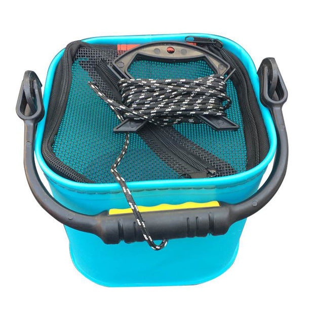 20 CM EVA Water Bucket With Rope Collapsible Bucket For Camping/Fishing (Blue)