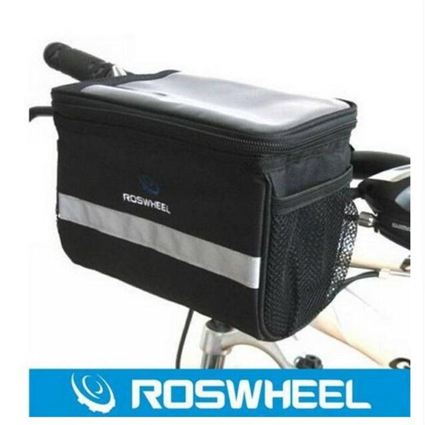 2014 Roswheel ROSWHEEL Cycling Bicycle Black Waterproof Handlebar Bag Front Basket Quick Release