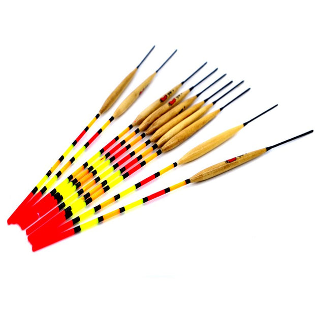 2017 20piece/lot Wood Fishing Float Hot High Quality Durable Fishing Tackle Tools For Fishing Flotteur Peche