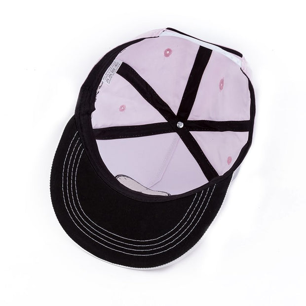 2017 Beauty Bone Hip Hop Snapback Hats Black Female Bone Hip Hop Cap Baseball Hat High Quality Cotton Material Size 55-60cm