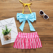 2018 Baby Girl Clothes 2 Pcs/set Swimwear Hammock Girls Beachwear Cute Girls Swim Children Clothing Kids Swimwear