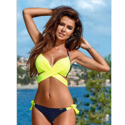 2018 Brazilian Cross Criss Bandage Swimwear Women Swimsuit Push Up Bikini Set Ladies Sexy Beach Biquini Swim Wear Bathing Suits
